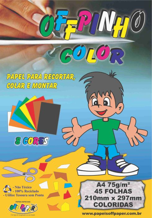 Papel Offpinho Color 75 – A4 con 45 hojas