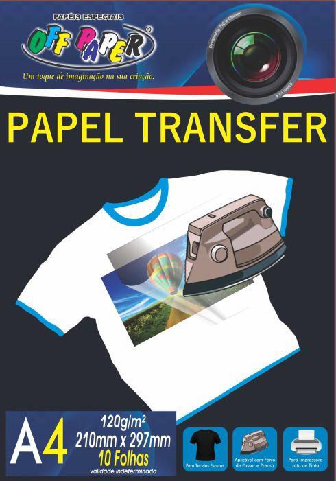 Papel Transfer para Tecidos Escuro - 10 folhas