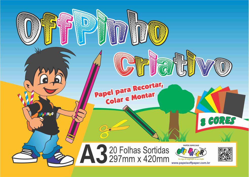 Papel Offpinho Criativo – A3