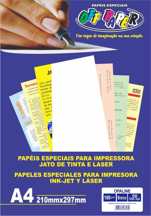 Papel Especial A4 Opalina