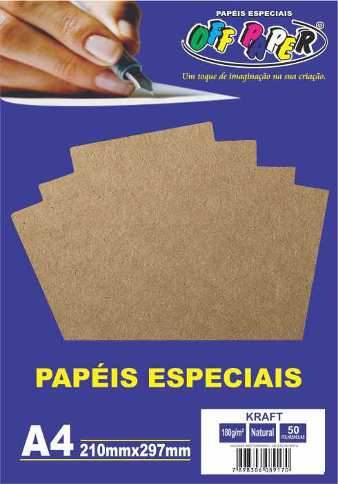Papel Kraft Natural A4