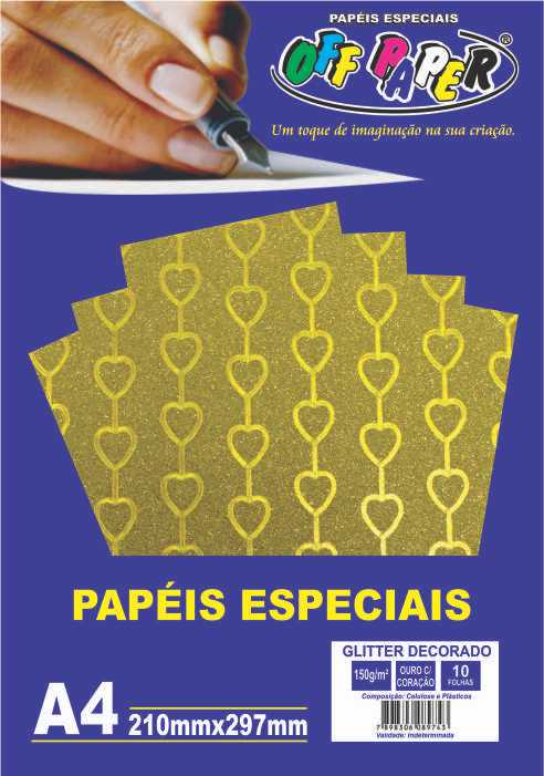 Papel Glitter Decorado