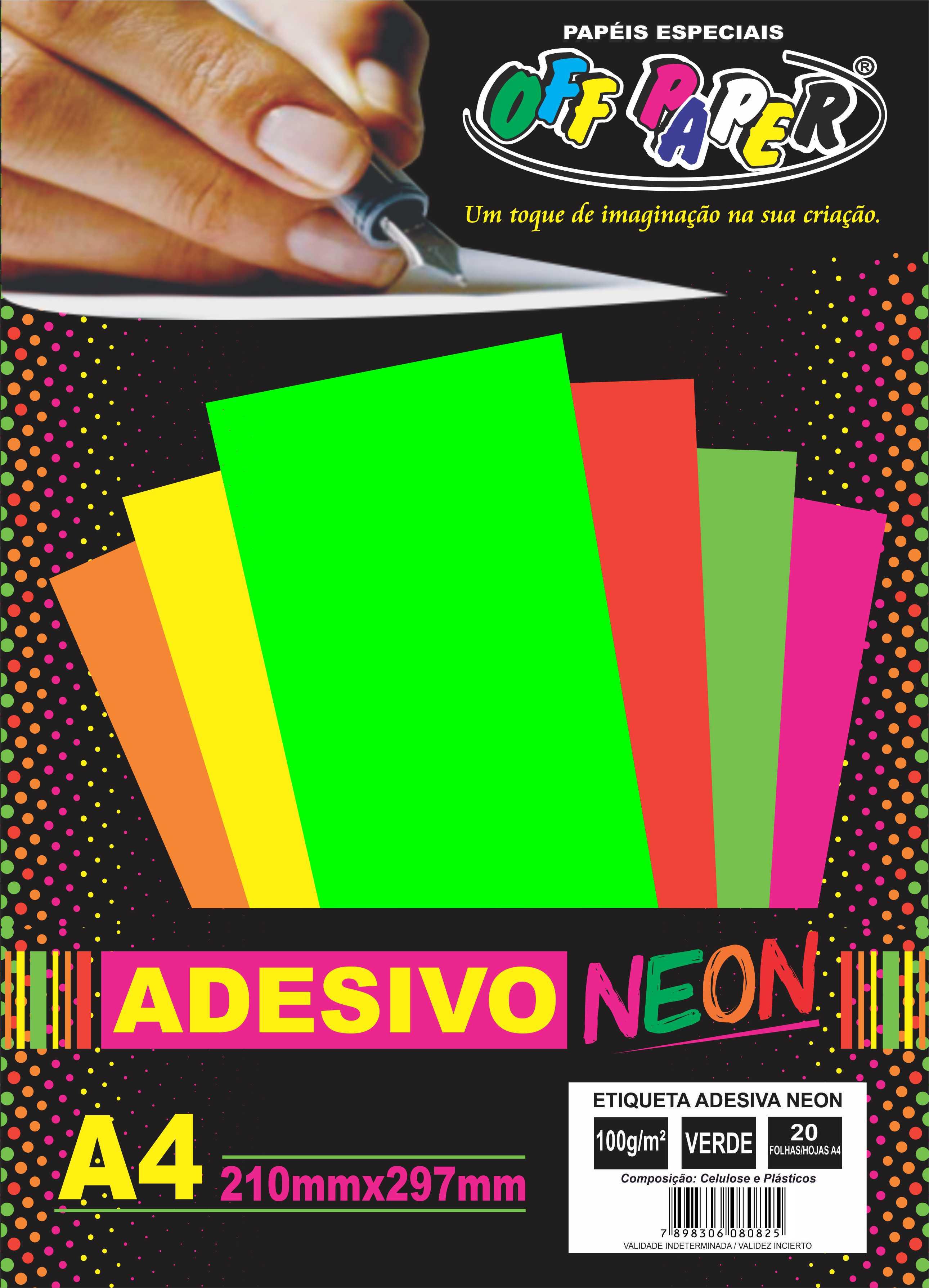 Adhesivo Neón A4