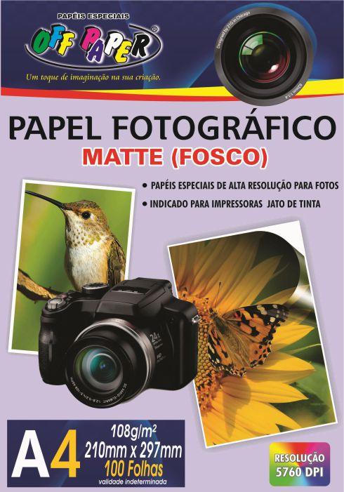 Papel Fotográfico Matte (Fosco) A4