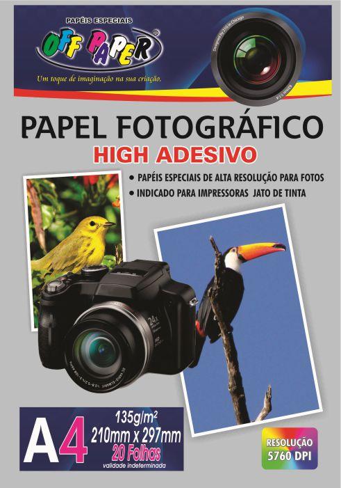 Papel Fotográfico High Adesivo A4 – 20 Folhas