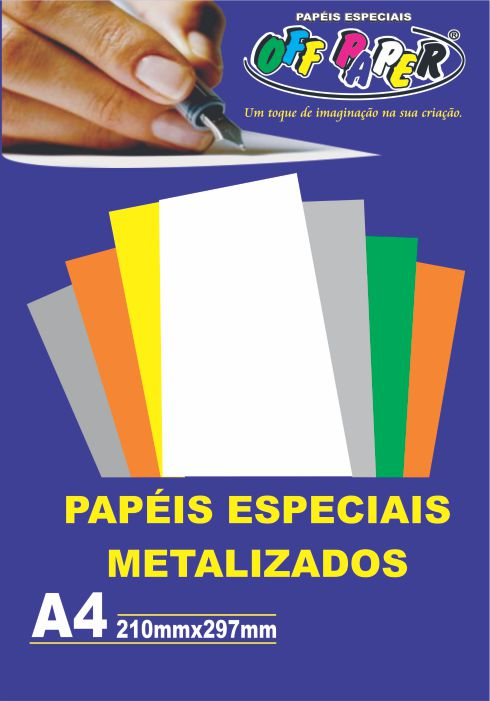 Papel Metalizado A4