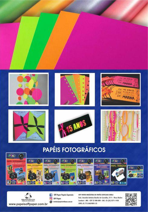 Papel Neon A4 -Verso