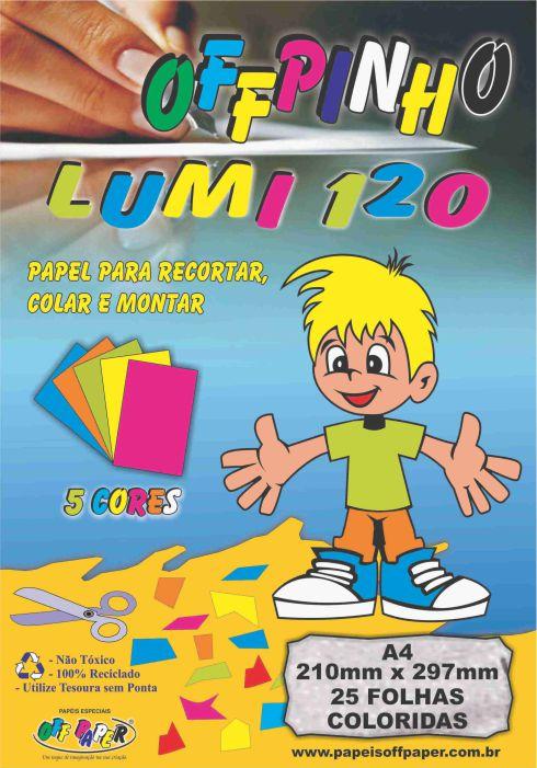 Papel Offpinho Lumi 120 – A4 com 120 Folhas
