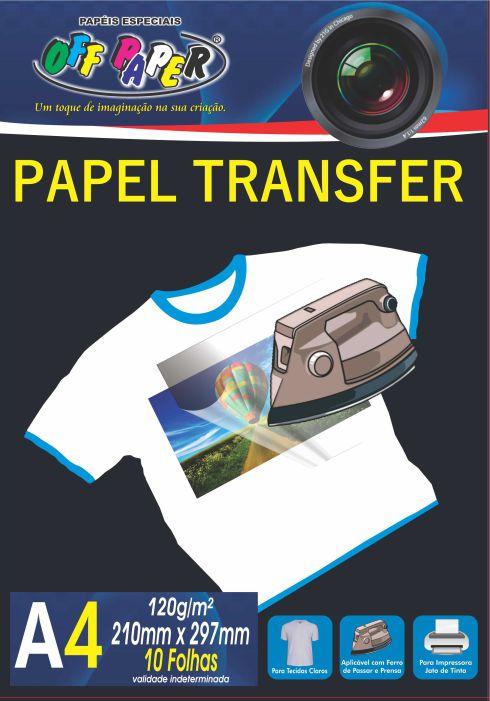 Papel Transfer para Tecidos Claros – A4 com 10 Folhas