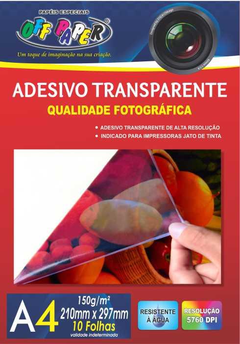 Papel Adesivo Transparente