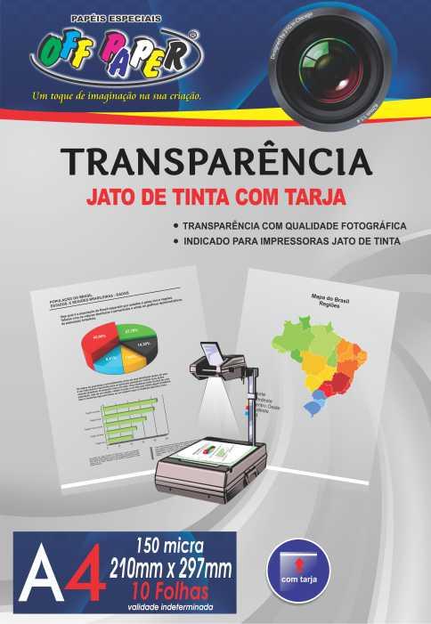 Transparência A4 Jato de Tinta c/ Tarja