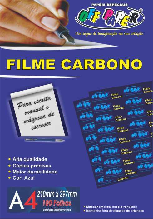 Filme Carbono – A4 com 100 Folhas