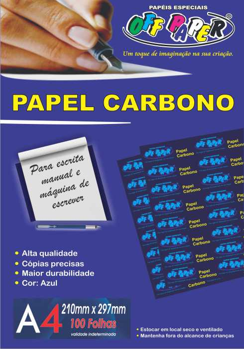 Papel Carbono – A4 com 100 Folhas