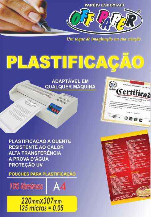 Plastificação – com 100 lâminas