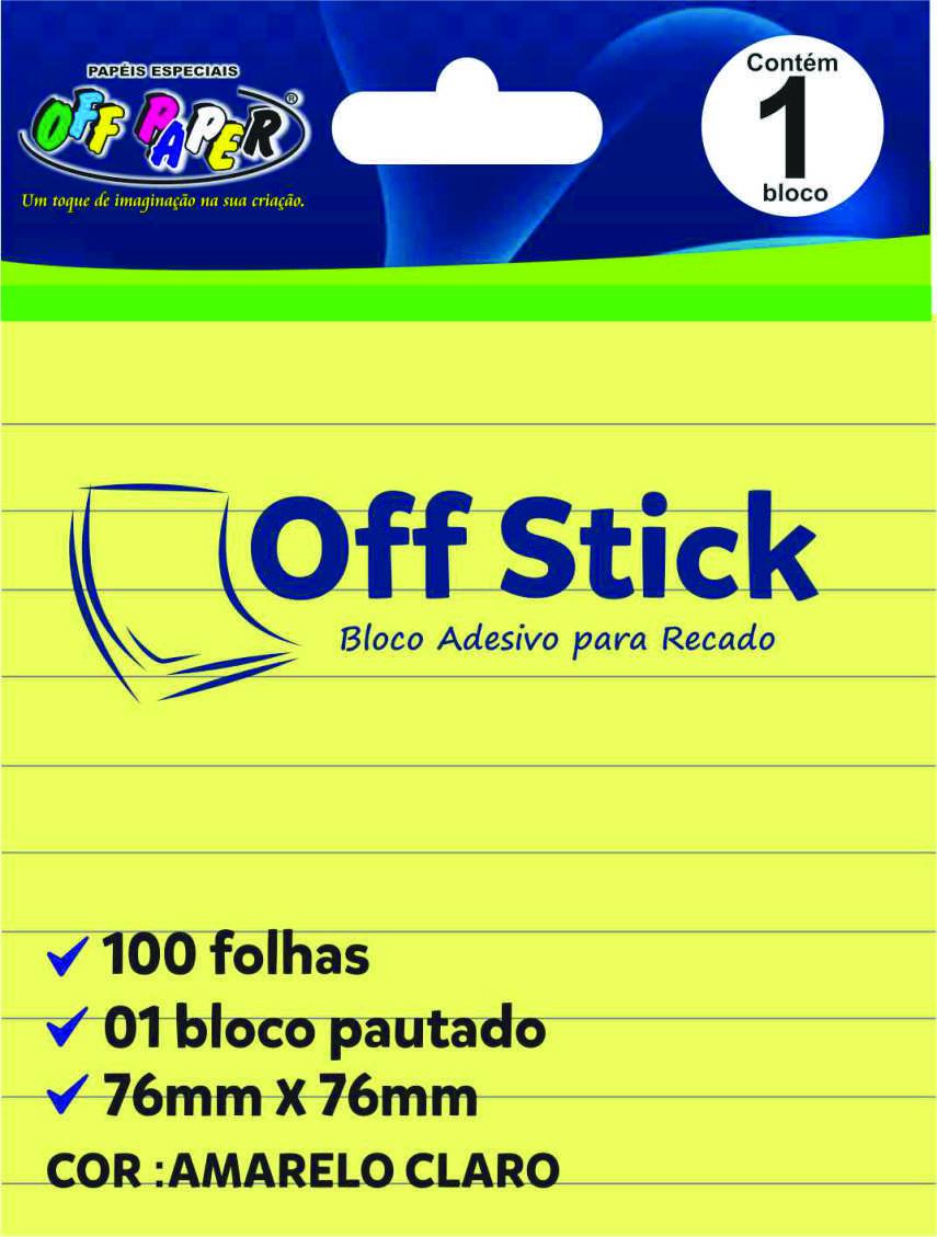 Off Stick 76mmx76mm pautado