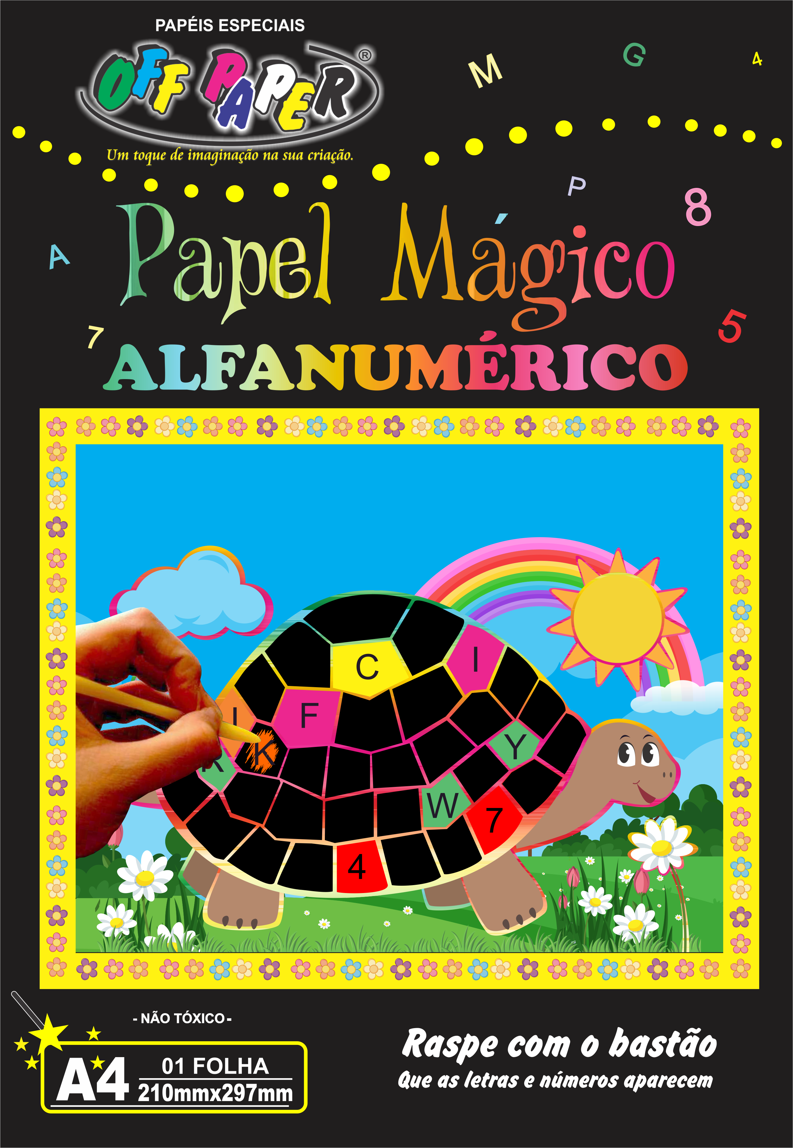 Papel mágico alfanumérico frente
