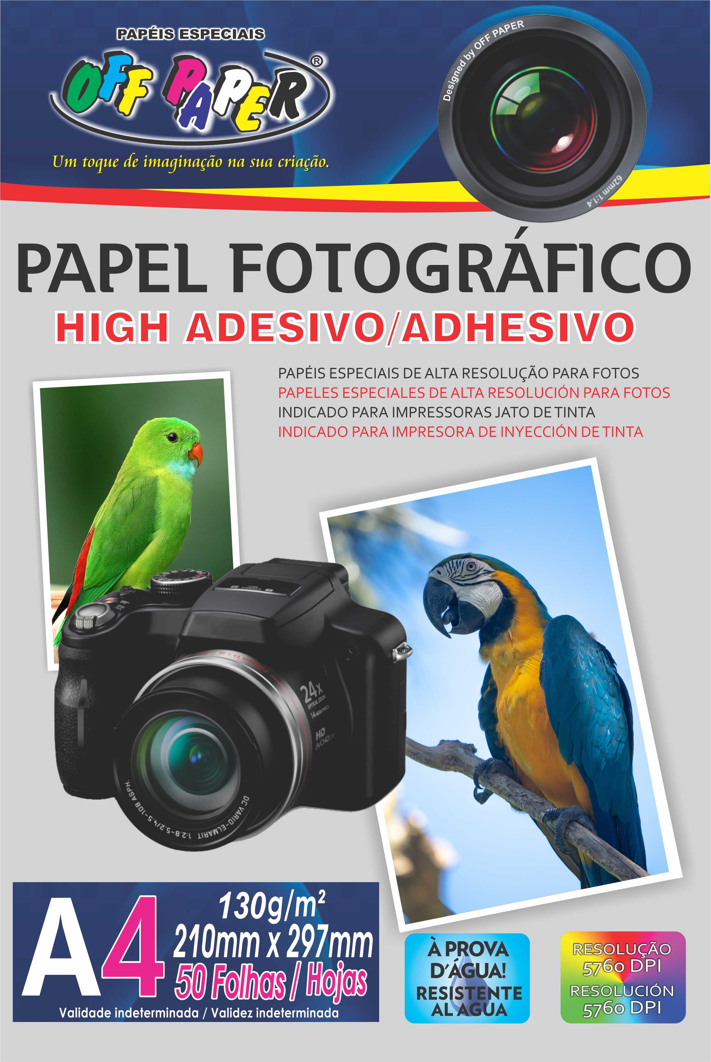 Papel Fotográfico High Adesivo A4 – 50 Folhas