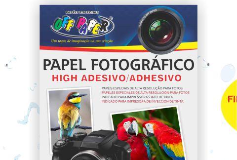 Papel Fotográfico Adesivo 80g/m²